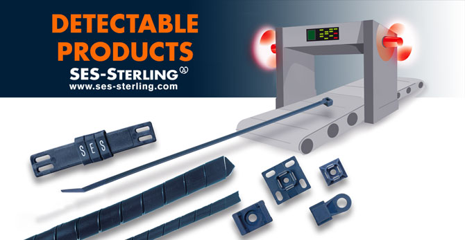 Detectable cable accessories: spiral tube, cable identification, cable ties, bases and tie cradle
