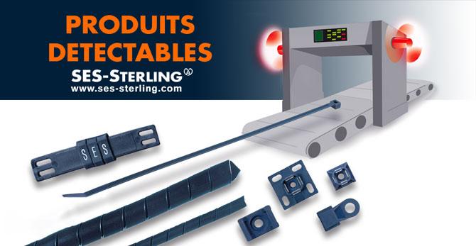 Accessoires de câblage détectables : gaine spirale, repérage de câbles, attache-câbles, socles et embases