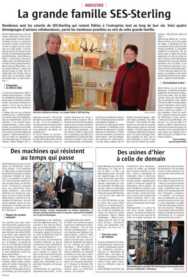 Parution dans l'Alsace le 27/12/2018