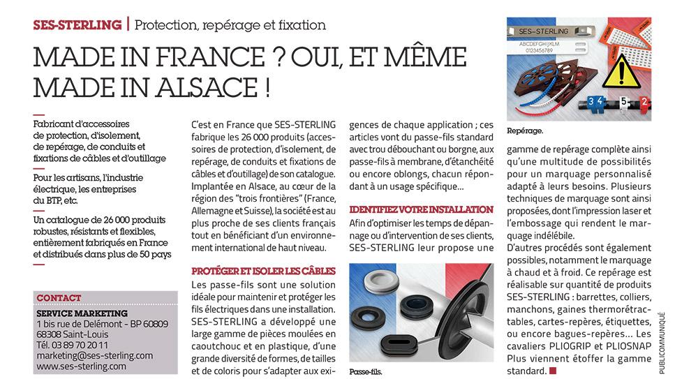 SES-STERLING : Made in France (L'usine nouvelle - mai 2017)