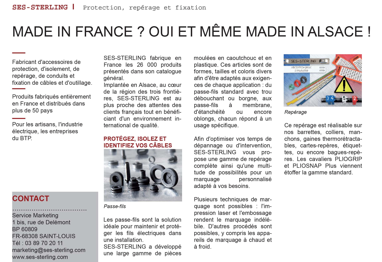L'usine nouvelle -Janvier 2018 : SES-STERLING made in France