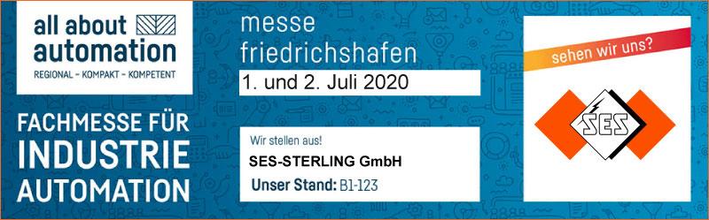 Fachmesse für Industrieautomation 1+2 juli 2020