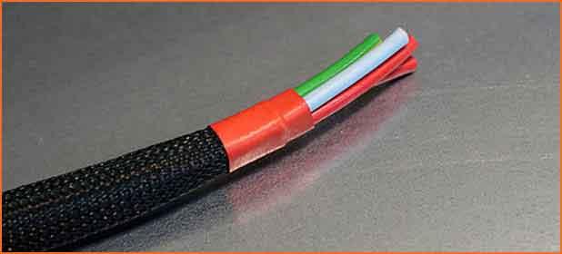 Gaine tressée de protectionde cable PLIOSIL