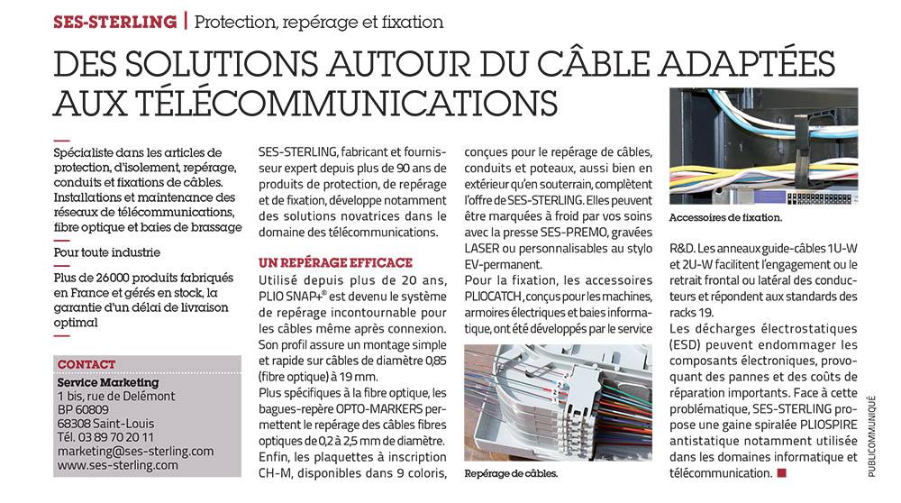 Des solutionsde repérage et guidage de cable dans l'industrie de la fibre et des télécommunications