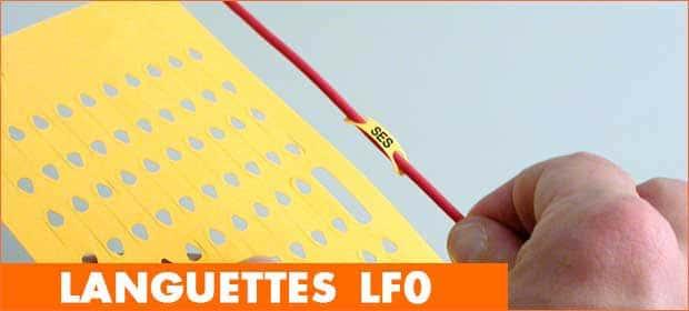 Languettes de repérage câble fibre optique LF0