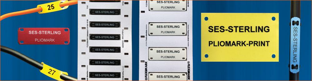 Étiquettes et plaquettes de repérage de câbles compatibles PLIOMARK PRINT