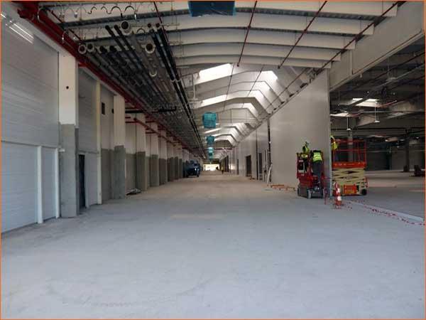 Chantier du nouveau siège SES-STERLING au technoparc à Hésingue site industriel