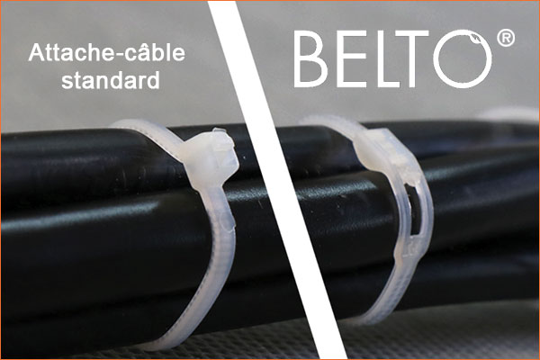 Comparatif BELTO et attache câble standard