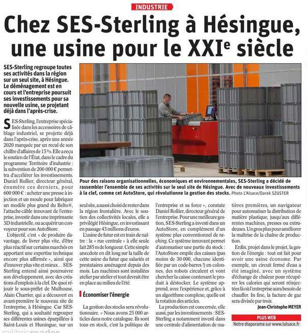 SES-STERLING à Hésingue (L'Alsace - avril 2021)