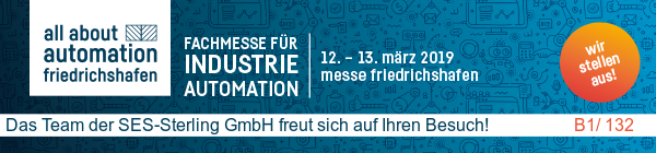 All about Automation - Friedrischshafen (DE) - du 12 au 13 mars 2019 Hall B1 Stand 132
