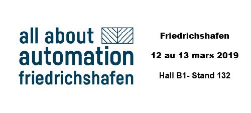 All About Automation - Friedrischshafen (DE) - du 12 au 13 mars 2019