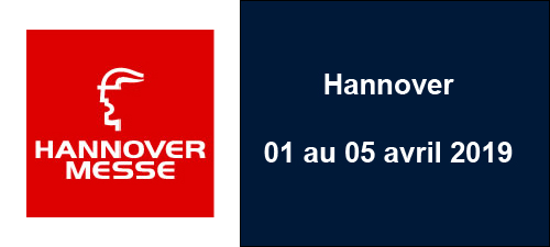 Hannover Messe - Hannover (DE) - du 01 au 05 avr. 2019