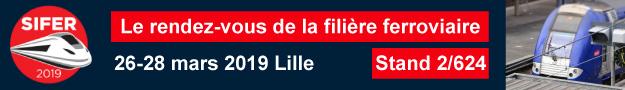 SIFER - Lille (FR) - du 26 au 28 mars 2019 - Stand 2/624