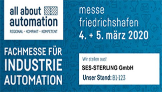 SES-STERLING in All About Automation  4 and 5 March 2020  in Friedrichshafen (Germany)